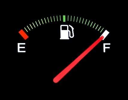 полный бак газа
